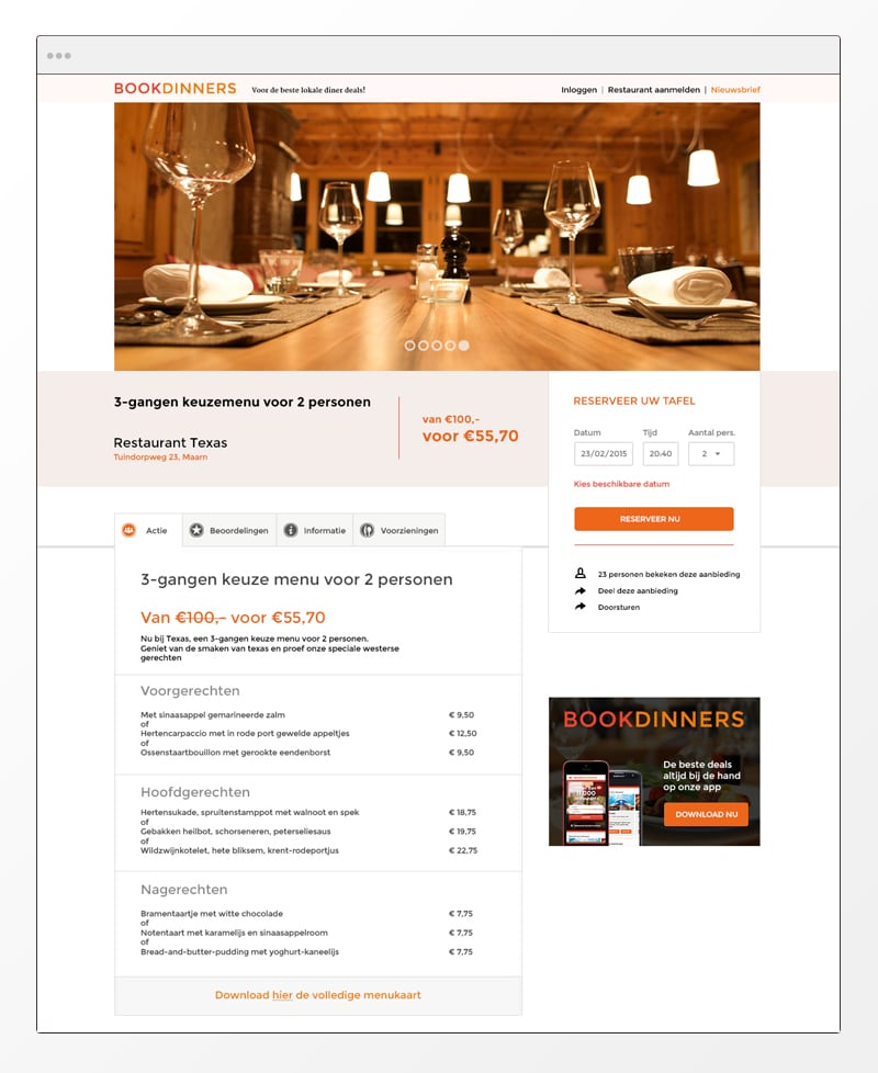 bookdinners - Webdesign