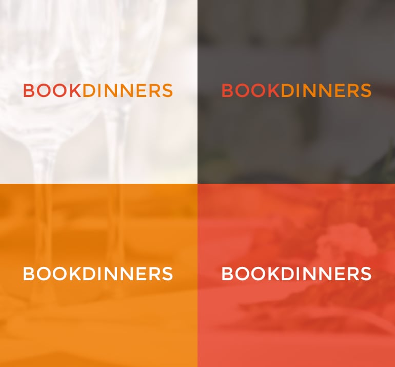 bookdinners - Logo kleurenstelling
